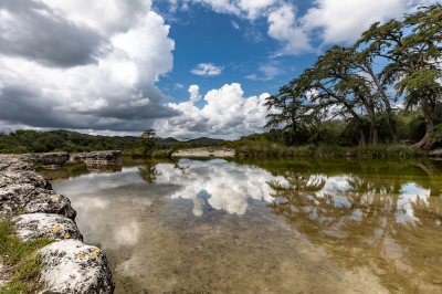 Frio River Reflection by Jerry Kloehr