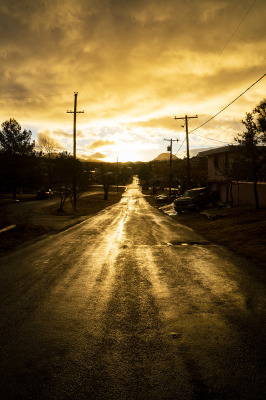 Bisbee Street at Sunrise by Sharon Deeny