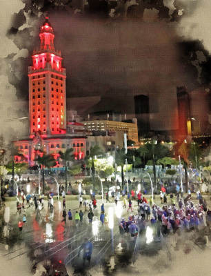 Freedom Tower Miami FL by Sandy Gilbert